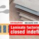 Laminate factories closed